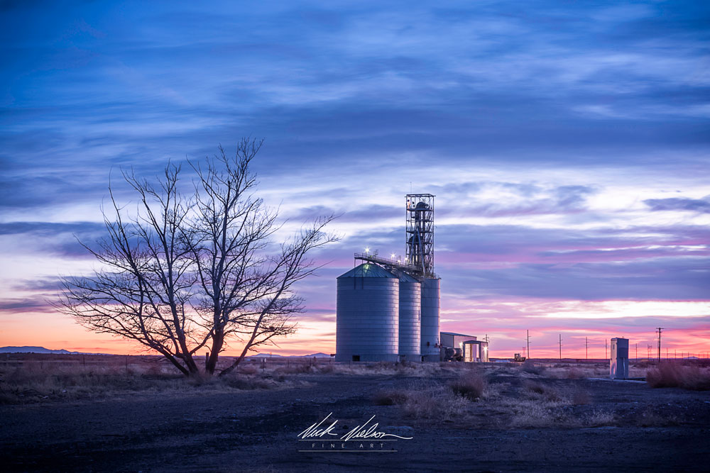 Feed Plant at Sunset