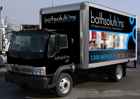 Bath Solutions Truck Wrap