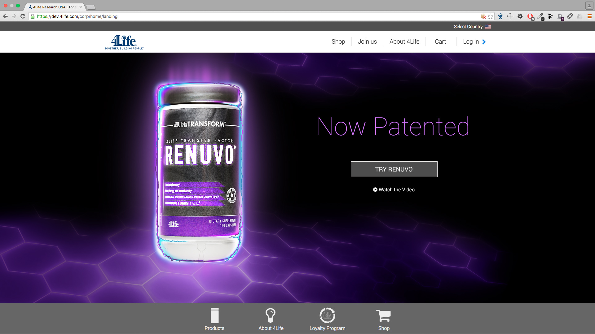 Renuvo Patent Banner